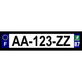 Plaque auto aluminium - 87
