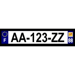 Plaque auto aluminium - 88
