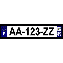 Plaque auto aluminium - 89