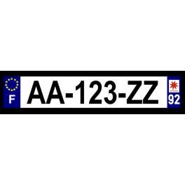 Plaque auto aluminium - 92