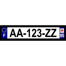 Plaque auto aluminium - 95