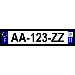 Plaque auto aluminium - 971