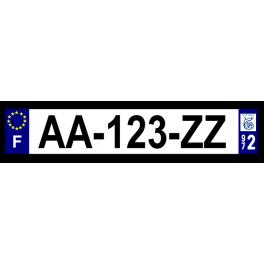 Plaque auto aluminium - 972