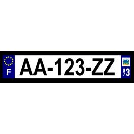 Plaque auto aluminium - 973