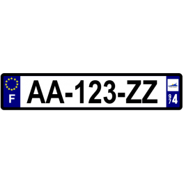 Plaque auto aluminium - 974