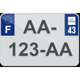 Plaque moto plexiglass - 43