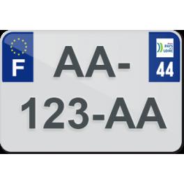 Plaque moto plexiglass - 44