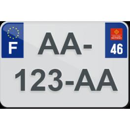 Plaque moto plexiglass - 46