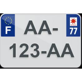 Plaque moto plexiglass - 77