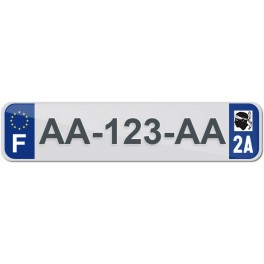 Plaque Auto Plexiglass - 2A