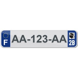 Plaque Auto Plexiglass - 2B