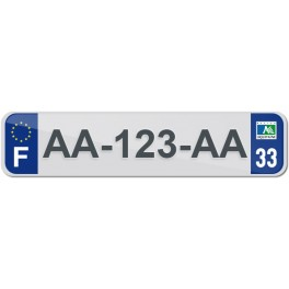 Plaque Auto Plexiglass - 33