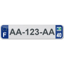 Plaque Auto Plexiglass - 40