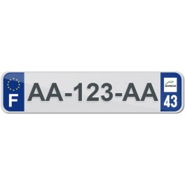 Plaque Auto Plexiglass - 43