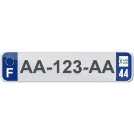 Plaque Auto Plexiglass - 44
