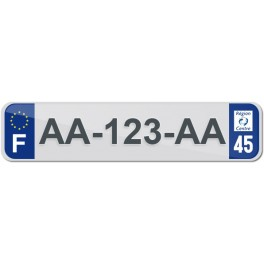 Plaque Auto Plexiglass - 45