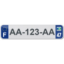Plaque Auto Plexiglass - 47