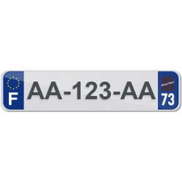 Plaque Auto Plexiglass - 73